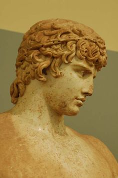 ANTINOUS - (Delphi Antinous) a cult statue of Antinous, sculpted in marble (117-138 AC).Found in the temple of Apollo at Delphi, 1893