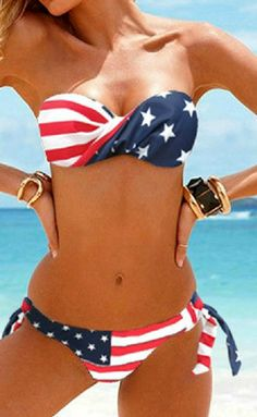 American Flag Bikini  #merica #usa