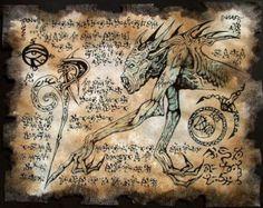 EL mayor signo cthulhu larp Necronomicon fragmento por zarono