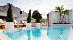 Rooftop pool at Dream South Beach