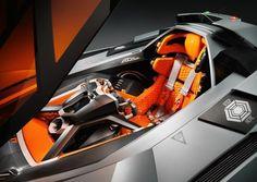 Futuristic Car Interior, Future Vehicle, Supercar, Lamborghini Egoista (+VIDEO)