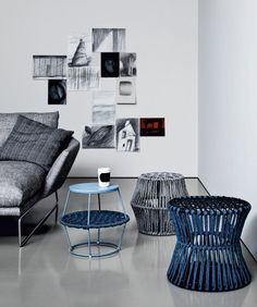 Ziggy, a new collection by Saba Italia - Poufs and coffee tables on preview at #milandesignweek 2014