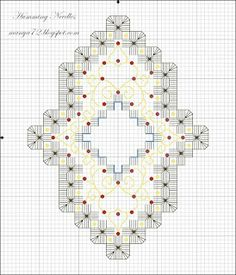 Humming Needles: Free Hardanger Ornament Pattern no.4 - Round Ornament Cover