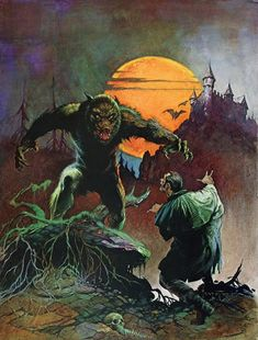 Frank Frazetta Werewolf painting for sale, this painting is available as handmade reproduction. Shop for Frank Frazetta Werewolf painting and frame at a discount of off. Frank Frazetta, Creepy Comics, Horror Comics, Arte Sci Fi, Sci Fi Art, Science Fiction, Arte Horror, Horror Art, Comic Books Art