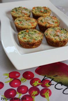 PECADO DA GULA: Forminha de legumes + agradecimento!