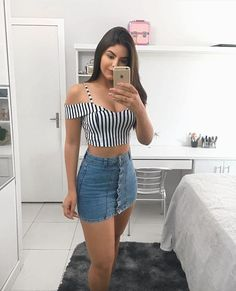 47 Fantastic spring outfit ideas that look pretty – Spring Outfits Mode Outfits, Night Outfits, Sexy Outfits, Spring Outfits, Trendy Outfits, Girl Outfits, Fashion Outfits, Womens Fashion, Chic Outfits