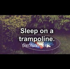"My normal side says ""Awh. Yeah! I have a trampoline. That would be fun!"" But my directioner side says ""OMG! THEY MADE A BUCKET LIST POST OUT OF A ONE DIRECTION PICTURE!"""