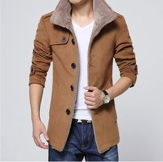 Men Long Wool Coat