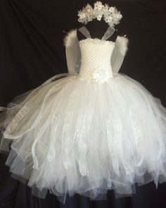 Angel tutu dress 3 pice costume with wings