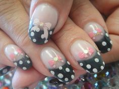 Could use the bow confetti inside acrylic with black tip and dotted