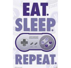 Nintendo Poster Eat, Sleep,