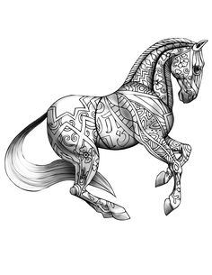 download selah works artwork and adult coloring books adult coloring book pageshorse