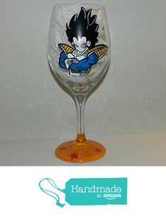 Vegeta wine glass from Custom Creations by Danielle LLC https://www.amazon.com/dp/B0163G5KVS/ref=hnd_sw_r_pi_dp_JNiVybGAJT1MD #handmadeatamazon