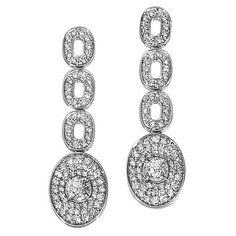 Ivanka Trump Earrings in 18k White Gold with Diamonds