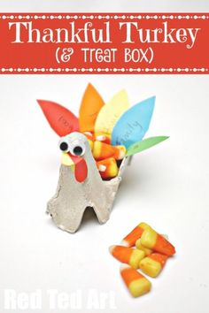 From Egg Carton to Thankful Turkey a super duper cute upcycled project, getting the kids think about what they are thankful for