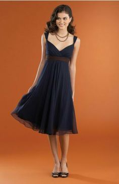Knee-length Ruffles Straps Chiffon Homecoming Dresses