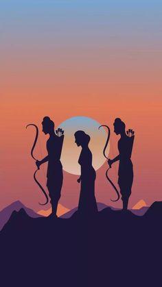 Shiva Art, Krishna Art, Indian Art Paintings, Animal Paintings, Shree Ram Images, Shri Ram Photo, Hanuman Ji Wallpapers, Shri Ram Wallpaper, Lord Rama Images