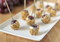 GF Blue Cheese and Walnut Dusted Grapes - The Galley Gourmet: Sunday Dinner