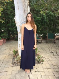 Long Perfect Dress in Navy from TYSADESIGNS