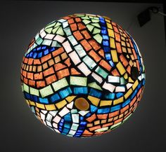 Missing the sea mosaic table lamp ooak home decor in by mooz