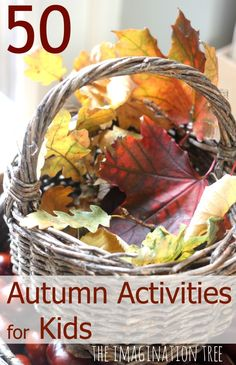 Over 50 Autumn activities for kids. Some wonderful sensory play, nature investigations and art projects in this collection!