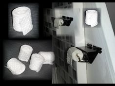 How to make a Doll Toilet Paper Holder