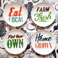 """""""Farmer's Market fresh table topics, four fun dishwasher safe plates! #PaperSourceMPLS #papersource  by @semicelebration @papersource #eatlocal…"""" Table Topics, Farm Signs, Paper Source, Diy Food, Farmers Market, Decorative Plates, Instagram Posts, Mothers, Dishwasher"""