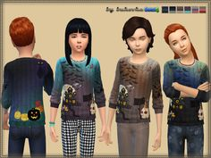 Sims 4 CC's - The Best: Spooky Sweater by Bukovka