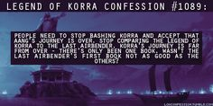 Korra's journey deserved to be judged in it's own right, she isn't Aang
