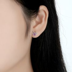 Earrings Stud Earrings 2019 Hot Trendy 925 Silver Earrings For Women Exquisite Crystal Blue Star Lovely Bow-knot Earring Jewelry Lady Engagement Gifts Quality First