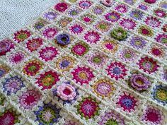 Stunning flower blanket