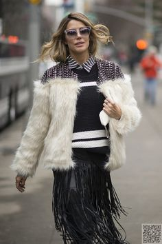 5. #Fringe and Fur - #Fabulous Street #Style Photos from New York #Fashion Week Fall 2015 ... → Fashion #Photos