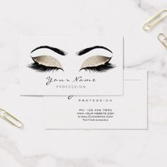 Microblading eyebrows tattoo permanent makeup business card beige glitter makeup artist lashes black white business card office gifts reheart Choice Image