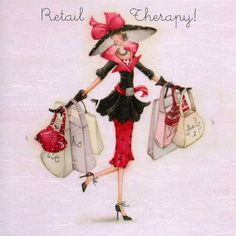 """Cards """"Retail Therapy"""" - Berni Parker Designs ღ✟"""