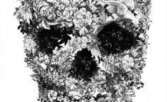 Floral skull art