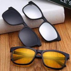 182ace748943 3 Piece Magnet Dual-Purpose Reading Glasses Lens With Glasses Frame for Men  and Women