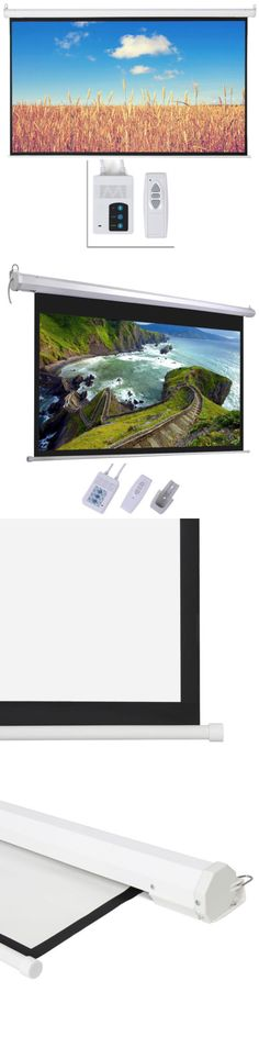 """Projection Screens and Material: Big Sale 100"""" 16:9 Hd Foldable Electric Motorized Projector Screen + Remote -> BUY IT NOW ONLY: $54.99 on eBay!"""