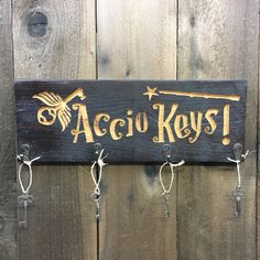 "This sign to hang your keys on: | Community Post: 19 Magical Gifts For People Who Love ""Harry Potter"""