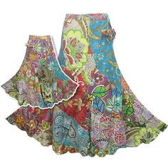 Boho - love this gypsy skirt............look at all of the great colors!!