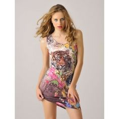 Vestido Corto de Verano Estampado Leopardo MS867 Graphic Tank, Tank Tops, Skirts, How To Make, Dresses, Women, Fashion, Types Of Dresses, Hot Clothes