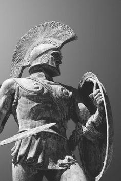 Achilles statue in the garden of Achilleus, Corfu Statue Tattoo, Statue Of Liberty Tattoo, Rome Antique, Art Antique, Roman Sculpture, Art Sculpture, Apollo Statue, Sculpture Romaine, Greek Warrior