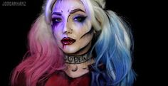 Harley Quinn Makeup Tutorial | Amazing Female Superhero Makeup Tutorials | Costume Makeup Ideas