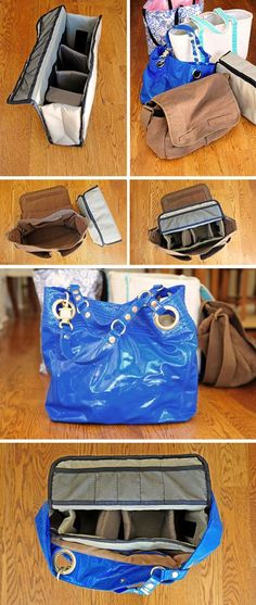 Easily convert a tote bag into a camera bag