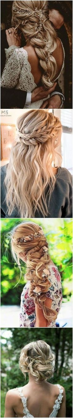 Trendy wedding hairstyles updo boho up dos Hairdo Wedding, Boho Wedding Hair, Wedding Beauty, Bridal Hair, Wedding Makeup, Trendy Wedding, Up Hairstyles, Braided Hairstyles, Wedding Hairstyles