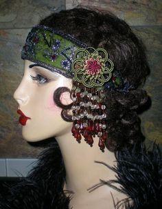 Flower Beaded Headband designed by Graceful Butterfly Millinery winner of the 2012 Hatty Award