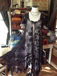 Fabulous Crochet a Little Black Crochet Dress Ideas. Georgeous Crochet a Little Black Crochet Dress Ideas. Crochet Bodycon Dresses, Black Crochet Dress, Dress Up, Dress Skirt, White Lace Skirt, Romantic Outfit, Moda Vintage, Dress Tutorials, Costume