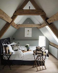 Report Exposes The Unanswered Questions on Stunning Attic Bedroom Design As previously mentioned, your bedroom is intended for relaxation after a long, busy moment. The attic bedroom is a … Attic Bedroom Designs, Attic Bedrooms, Bedroom Loft, Bedroom Ideas, Design Bedroom, A Frame Bedroom, Master Bedroom, Bedroom Curtains, Bed Frame