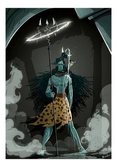 Lord Shiva from our Indian mythology    I promise the highres print Asap