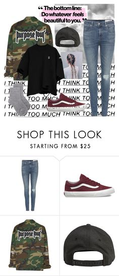 """""""Idk 😐"""" by brookemcc ❤ liked on Polyvore featuring rag & bone, Vans, Billabong and Erika Cavallini Semi-Couture"""
