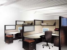 cubicle designs office | Modern Computer Desk Cubicle Design at Los Angeles